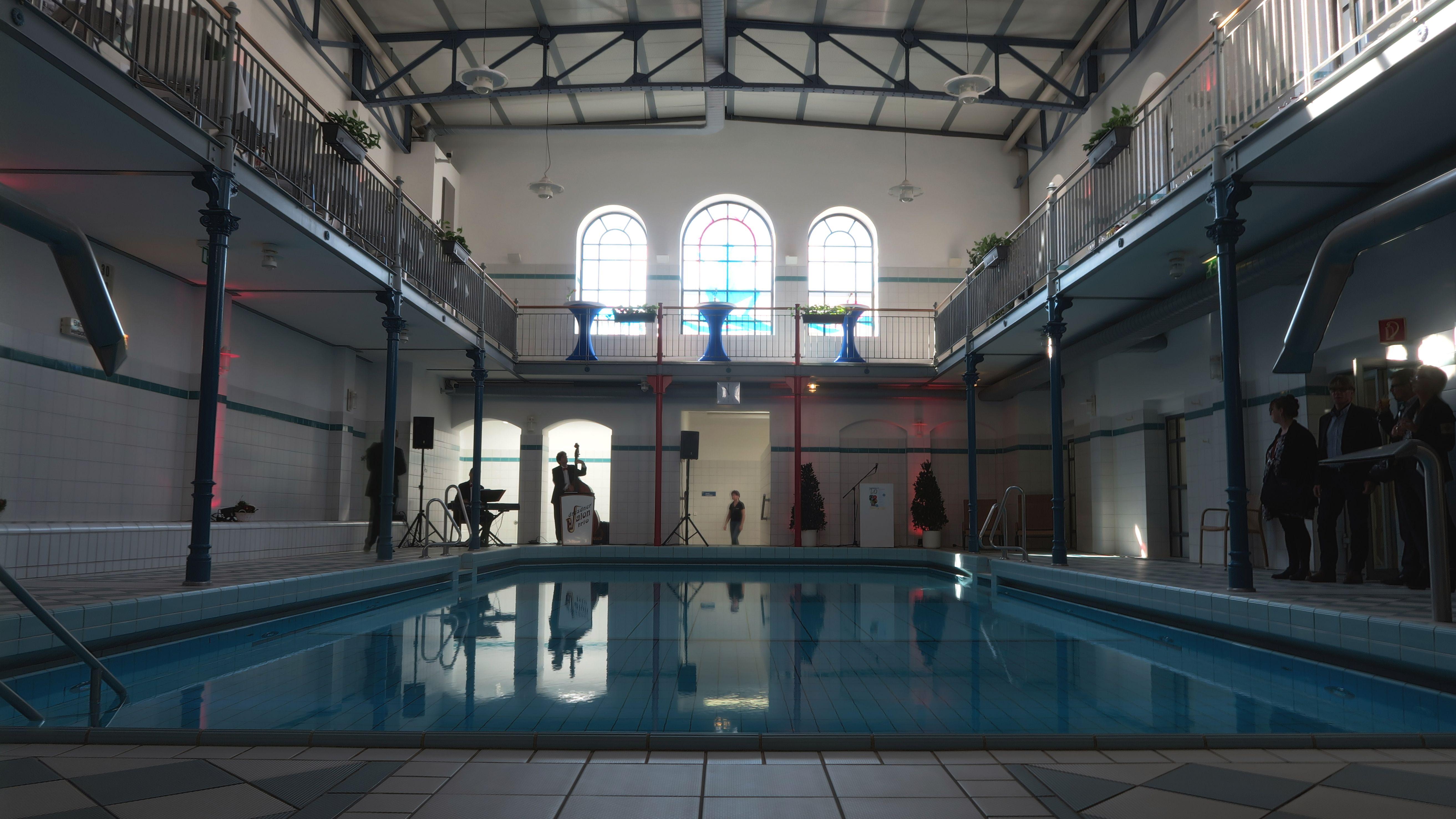 Nur noch 1,35 Meter tief - das Schwimmbecken im Nordbad. Foto: Archiv 2017