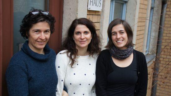 Heike Höhle, Susanne Peiler und Josefin Schönberg vom HebammenHaus
