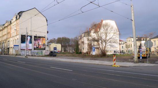 An der Ecke Bautzner-/Prießnitzstraße soll ein Gebäudekomplex entstehen.