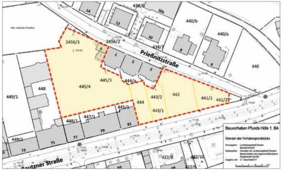 Diese Grundstücksflächen sind von der Baugenehmigung betroffen.