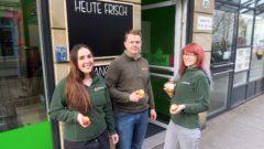 Elbfrucht-Team Lilli, Michael und Katja.