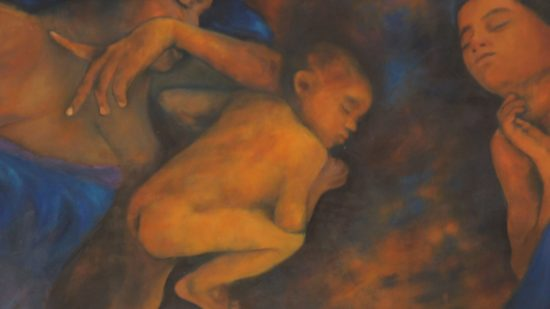 Stefania Karampa studierte in Athen Malerei. Dort fand siie auch zur Mosaikkunst