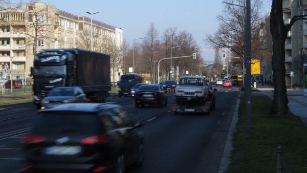 Albertstraße am Dienstag