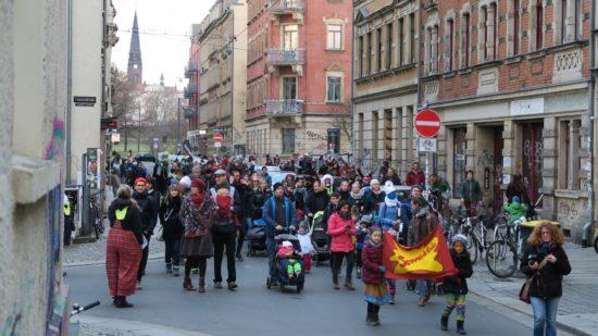 Von der Sebnitzer ging es dann die Alaunstraße hinunter.