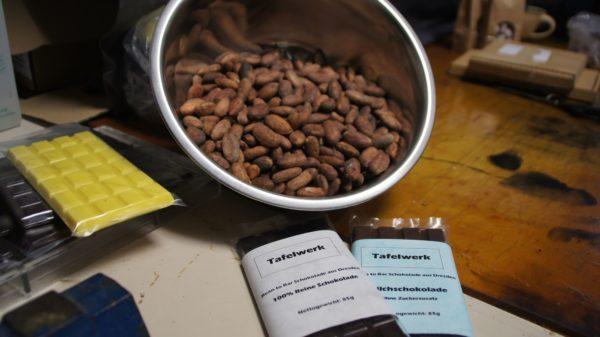 """""""Unsere süßeste Schokolade hat 50 % Kakaobohnenanteil"""""""