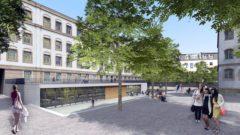 Hof mit Mensa - Visualisierung: NBHG Architekten