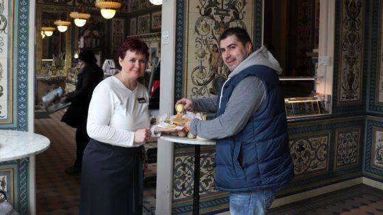Pfunds Laden-Chefin Ina Stephan und Berle-Erfinder Torsten Schlüter