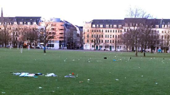 Alaun-Müll-Platz am Morgen