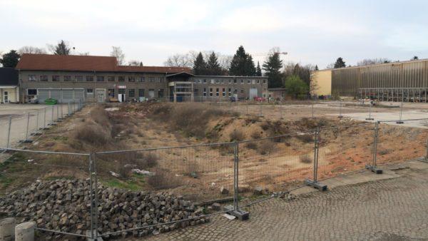 Baugrube auf dem Gelände des alten Gaswerks