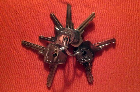 Gefundenes Schlüsselbund