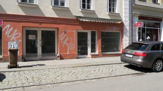 Leerer Laden auf der Alaunstraße 15