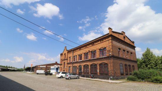 Gebäude auf dem Gelände des Alten Leipziger Bahnhofs