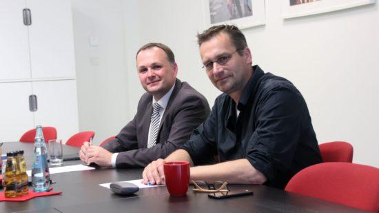 Sind sauer über die Informationspolitik des Oberbürgermeisters Linken-Chef André Schollbach und Fraktionskollege Martin Schulte-Wissermann