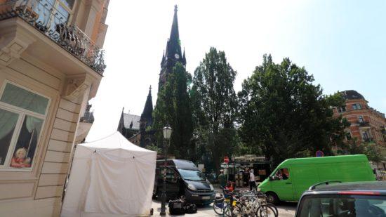 Insel am Martin Luther Platz