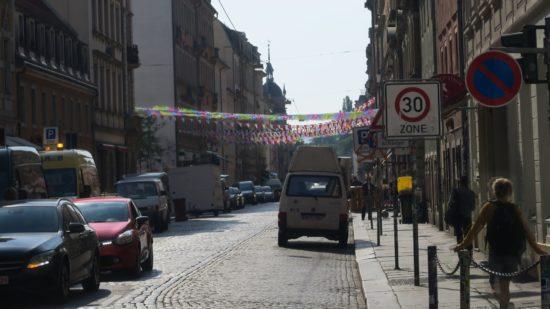 Rummel auf der Louisenstraße