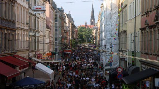 Görlitzer Straße am Nachmittag