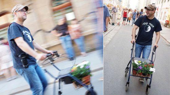 Alter Mann braucht Rolator - Foto: André Wirsig
