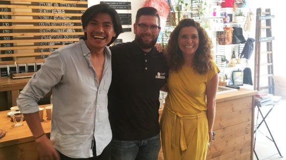 PauPau im Simmel: Armando Reyes Prado, Martin Fiedler und Vanessa Bravo Feria freuen sich auf die Kooperation.