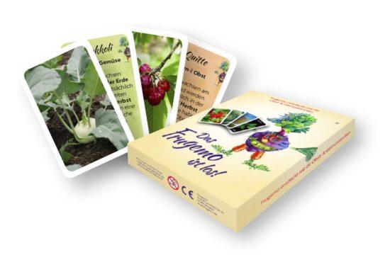 So soll das Fruchtgemüsemonster-Kartenspiel aussehen.