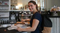 Vanessa freut sich über jeden neuen Betrieb, der bei foodsharing teilnimmt.