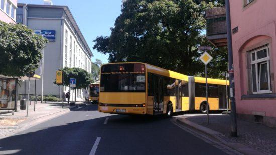 Umleitungen für den Bus