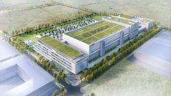 Es entsteht eine neue Halbleiterfabrik im Dresdner Norden. Foto: Bosch