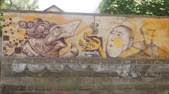 Graffiti auf der Friedensstraße