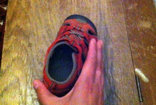 Vermisste Sandale