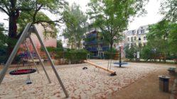Wird Ende August freigegeben: Spielplatz an der Förstereistraße