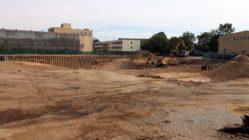 Baugrube für die 148. Grundschule