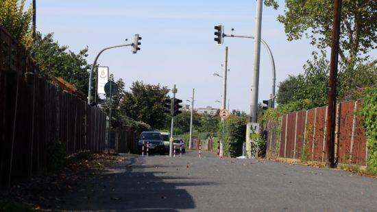 """""""Im Kleingartenpark"""" so soll der Weg, der auch die Hansastraße quert künftig heißen."""