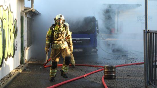 Bierlaster brennt im Getränkehandel