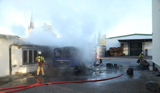 Brand auf dem Gelände an der Conrad-/Ecke Hansastraße