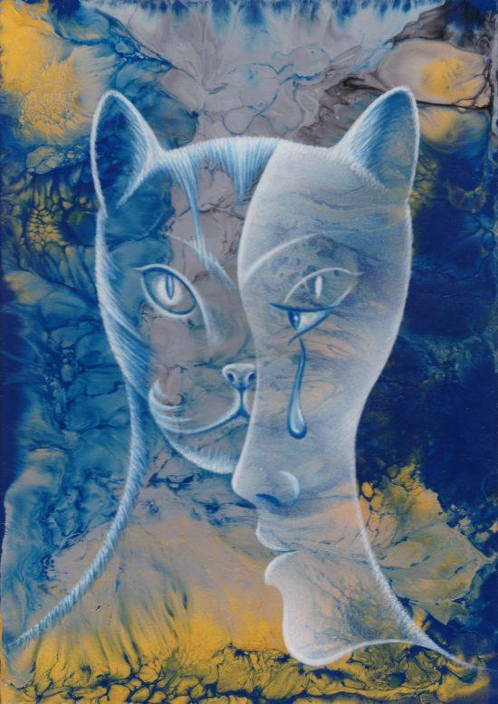 Die verwunschen Katze. Illustration von Jürgen Dreißig. Repro: Olaf  Rentsch