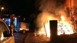 Brand an der Eberswalder Straße.