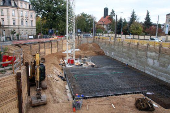 Die spitze Ecke zwischen Prießnitz- und Bautzner Straße wird bebaut.