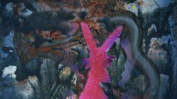 """Romance of a Rabbit Soul"", Öl und Acryl auf Papier, 53 x 41 cm, 2017"
