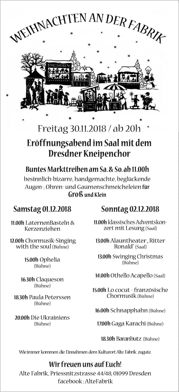 Weihnachten in Fabrik und Kunstgehæuse - Neustadt-Geflüster