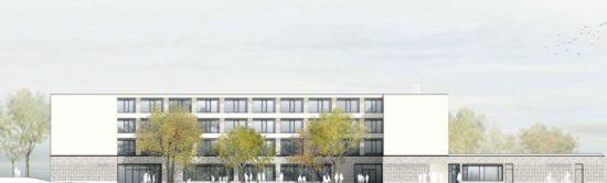 Die Fenster zur Hofseite sind deutlich größer geplant - Visualisierung: Arge RBZ