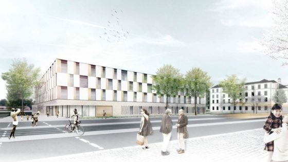 So könnte die 151. Oberschule aussehen - Visualisierung: Arge RBZ