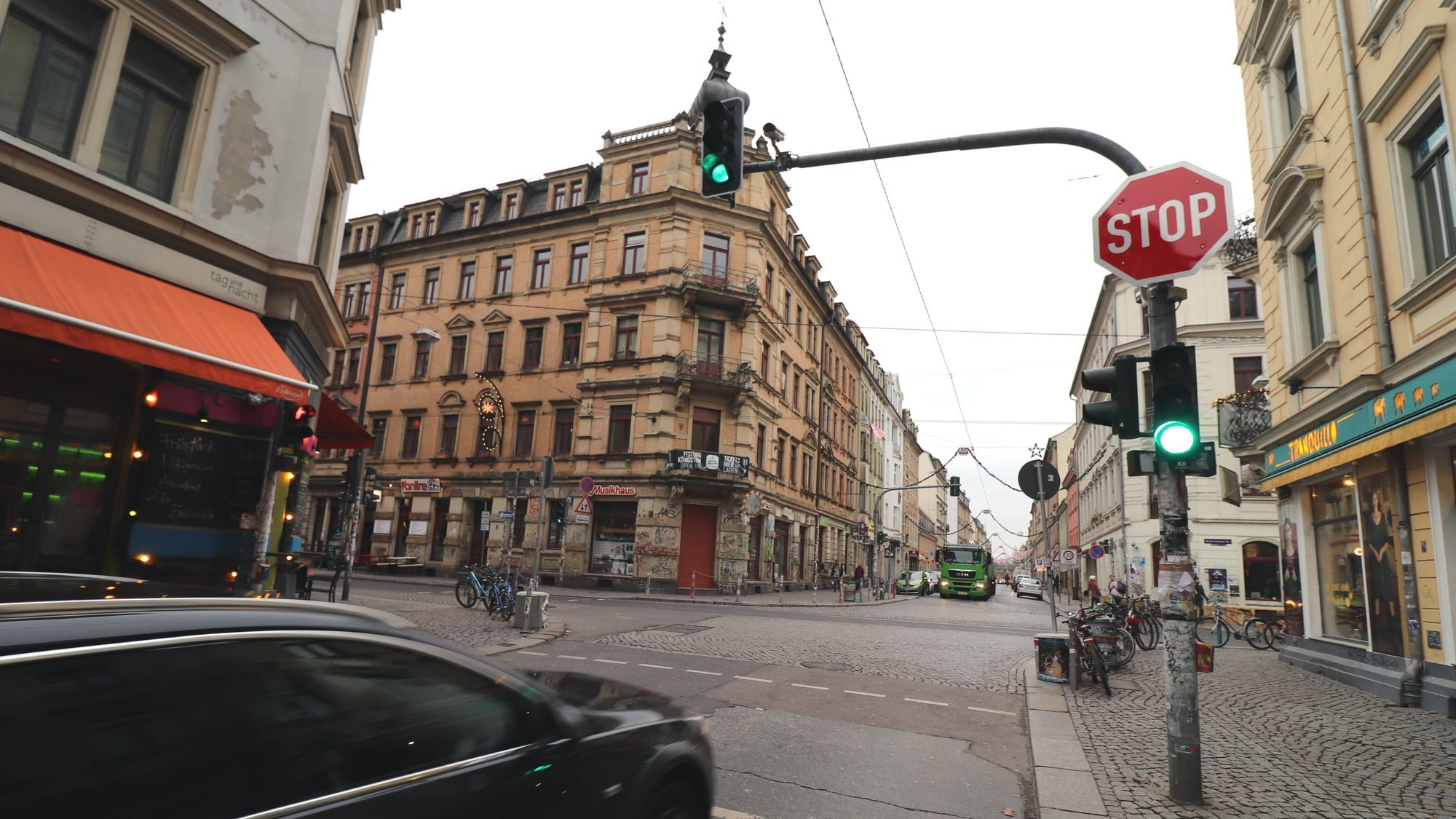 Ampel an der Louisenstraße