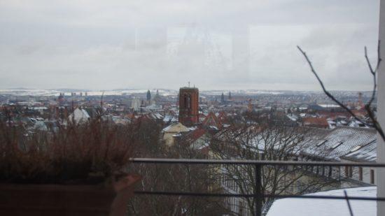Winterlicher Blick aus den Räumen des AnuKan - Zentrum für Berührungskunst