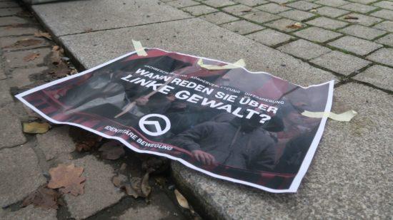 Das Plakat war dem Anschlag beigelegt.