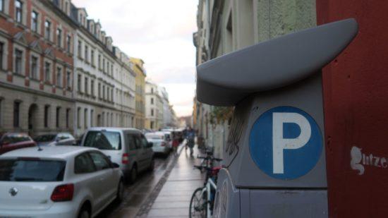 Parkautomat auf der Prießnitzstraße