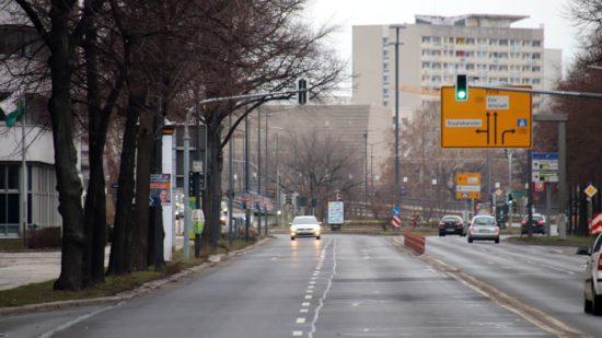 Albertstraße zwischen Carola- und Albertplatz