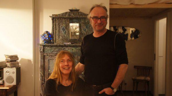 Catrin Große und Volkmar Voigt beim Kerzenlicht-Abendbrot