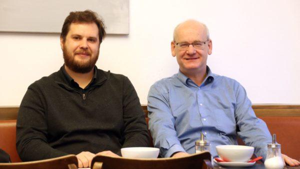 Wollen ein Bad für Neustadt und Pieschen: Vincent Drews und Johannes Lichdi