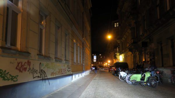 Böhmische Straße bei Nacht
