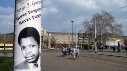 Erinnerung an Jorge Gomondai am Albertplatz