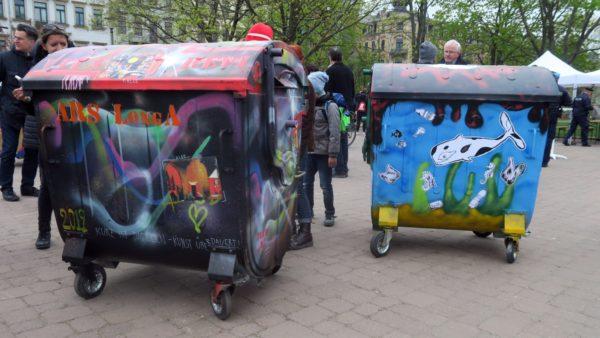 1,1-Kubikmeter-Mülltonnen